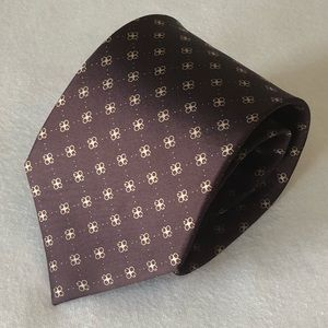 Gucci maroon logo tie Italian made silk
